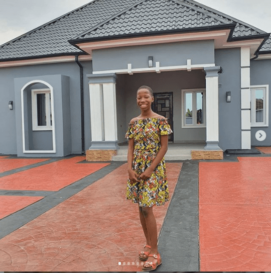 Kid Comedienne, Emmanuella Unveils The Lavish House She Has Built For Her Mum (Photos)