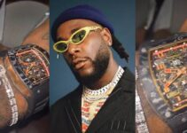 Burna Boy shows off his newly acquired Richard Mille wristwatch worth about ₦50Million (Video)