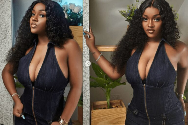 Chioma Rowland flaunts cleavage – Singer Davido's fiancee, Chioma Rowland, took to Instagram to flaunt her cleavage in new sexy photos she shared. See full photos below.