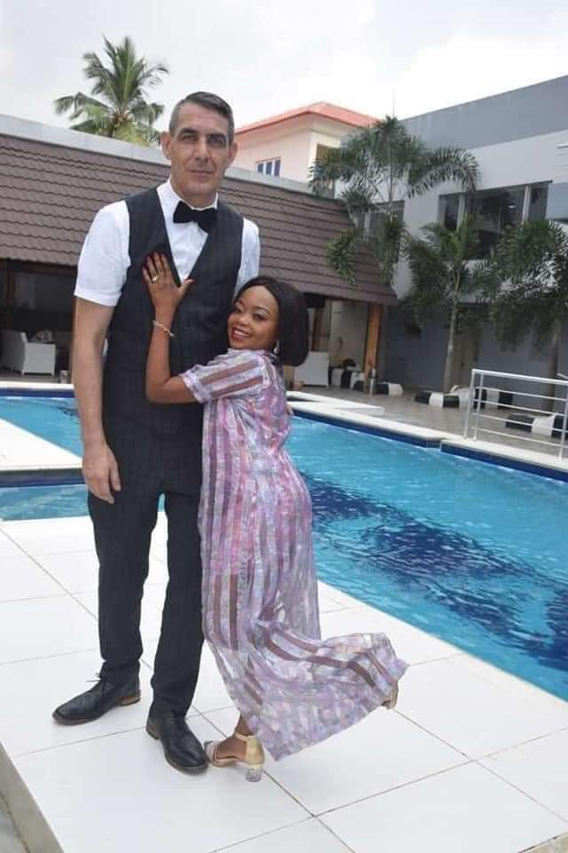 Actress, Miss Koikoi reportedly ties the knot with her white lover (Photos)