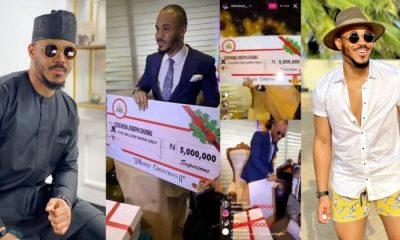 Fans gift BBNaija's Ozo N5m, loads of gifts for Christmas (Video)
