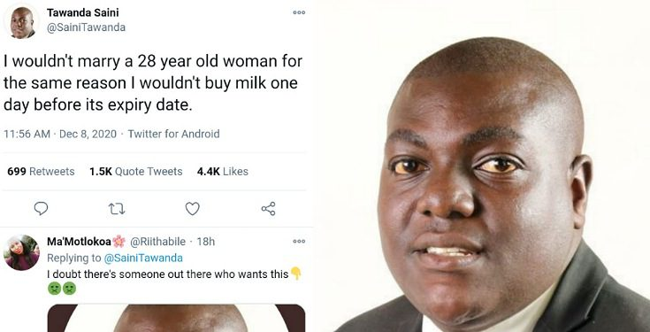 I wouldn't marry a 28 year old woman for the same reason I wouldn't buy expired milk – Man says