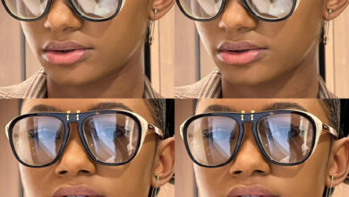 Temi Otedola rocks 14 Karat Gold 'Safety Pin' earrings worth N114K in new photos