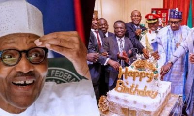 """""""They'll say the cake is N400M"""" – Nigerians tease Buhari over his birthday cake"""