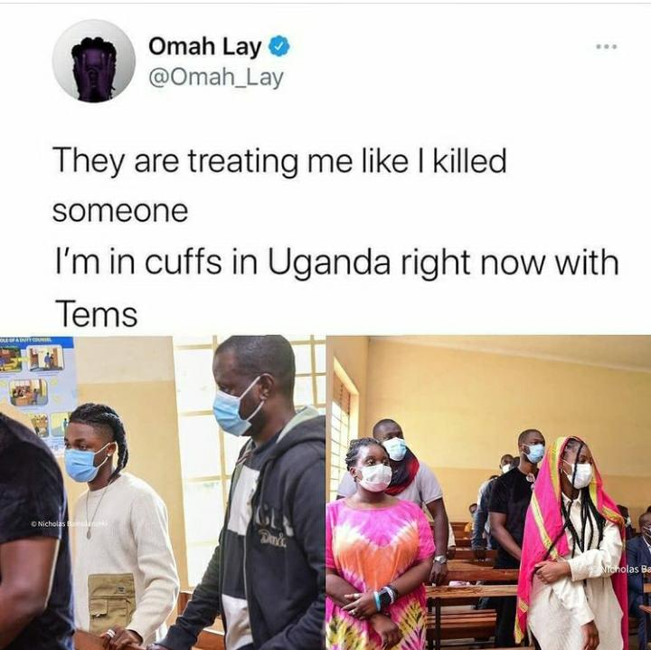 They Are Treating Me Like I Killed Someone – Singer Omah Lay Cries Out As He Lands In Ugandan Court