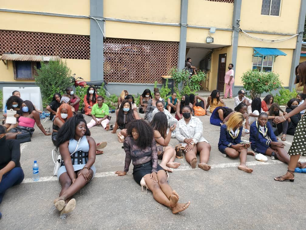 Lagos state police command parade 237 clubgoers arrested for violating COVID19 protocols, charge them to court (photos)