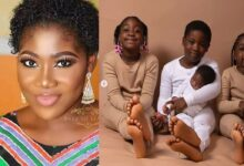 Mercy Johnson Drinking Garri