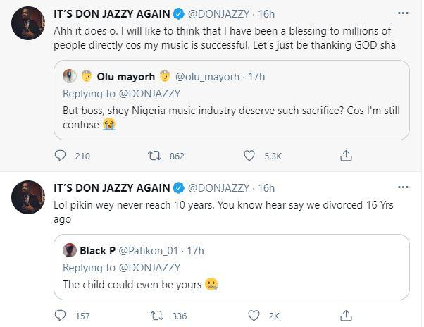 Music Producer, Don Jazzy responds to questions about his marriage at age 20