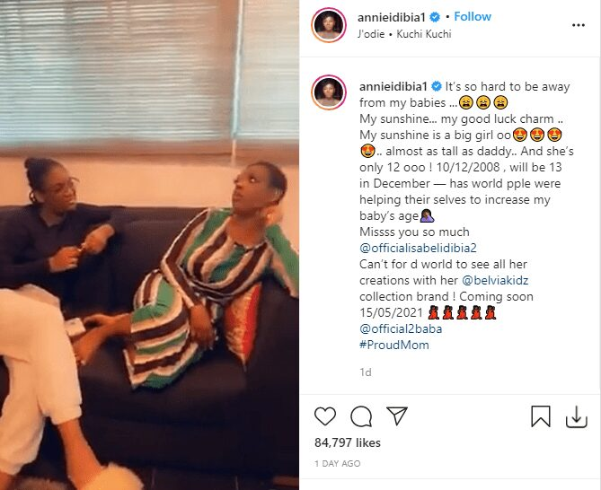 Annie Idibia Slams Follower Who Asked Her To Keep Her Daughter Away From Ned Nwoko