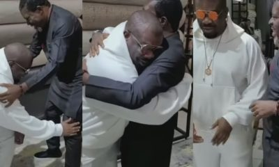 Don Jazzy Pleasant Reaction As He Meets Actor, Kanayo O. Kanayo, For The First Time (Video)