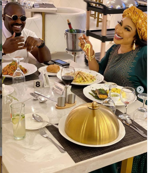 Actor, Jim Iyke Takes Tonto Dikeh On An Expensive Lunch Date (Video)