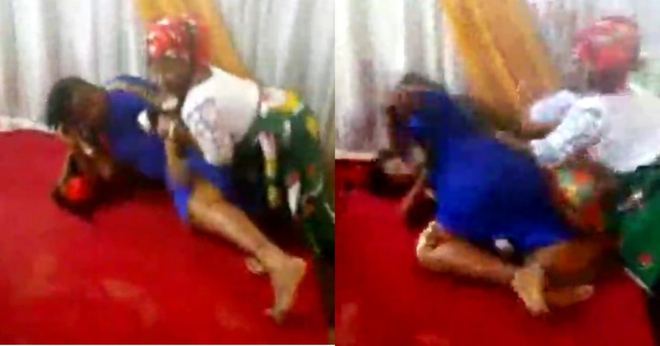 Pastors wife and a female member fight dirty inside a church in Umuahia (Video)