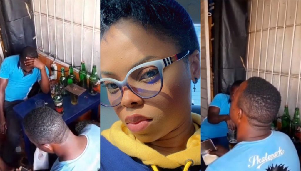 Nigerians React To Video Of Singer, Chidinma Preaching At A Beer Parlour (VIDEO)