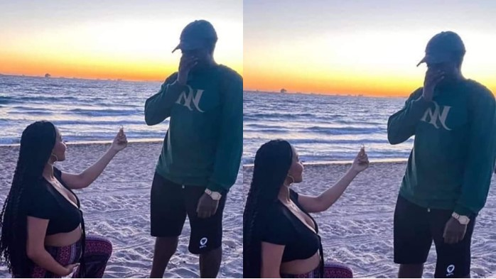 Pregnant Woman Kneels Down To Propose To Her Man